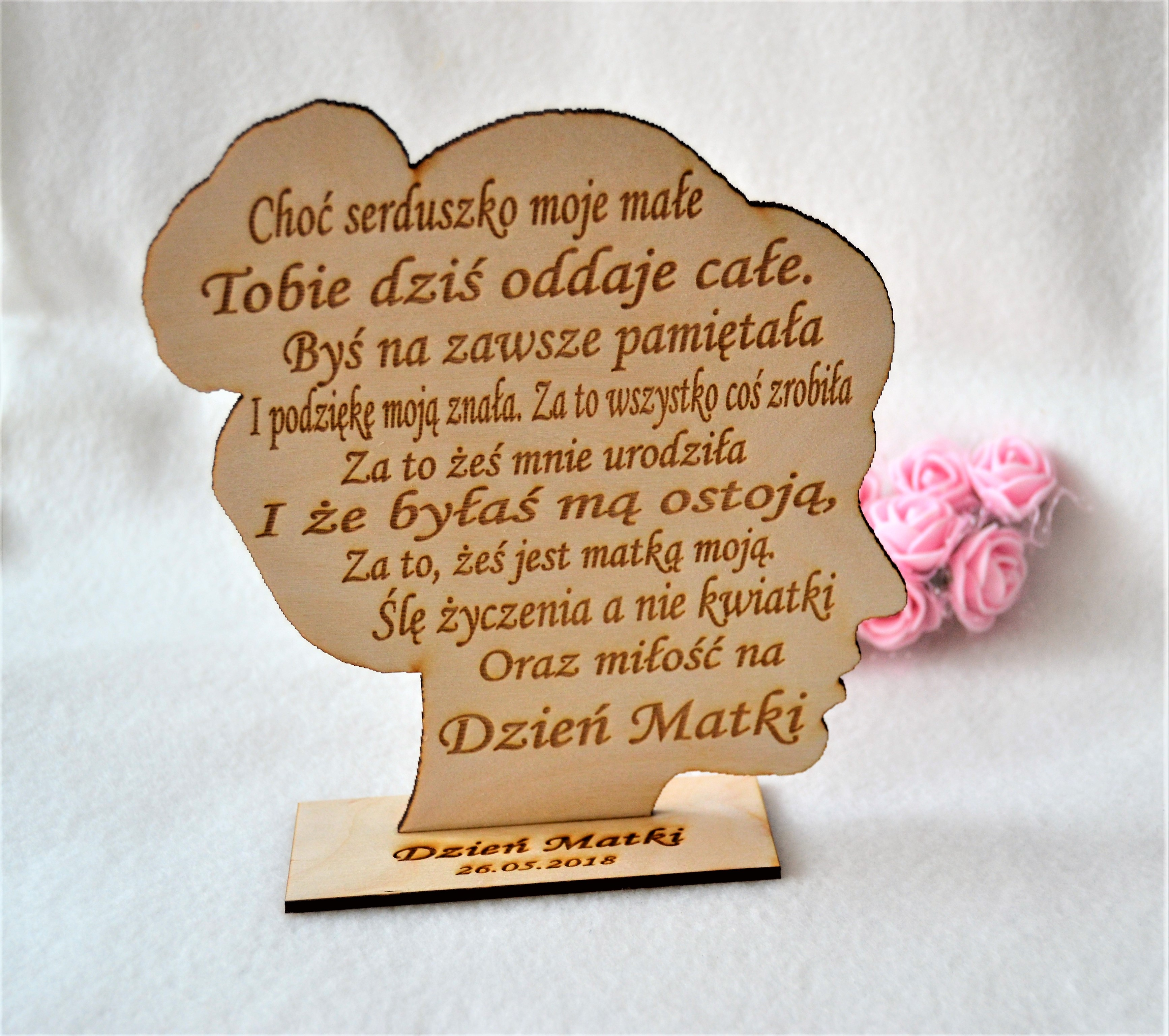 Dekoracja Drewniana Dzień Matki